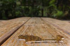 Water op plank Stock Afbeeldingen