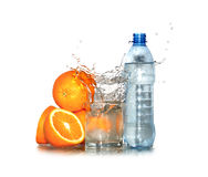 Water And Oranges Stock Image