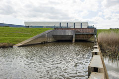 Water oulet of pumping station Royalty Free Stock Images