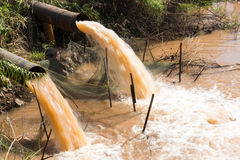 Water outflow sewer quickly. Royalty Free Stock Images
