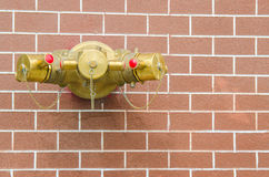 Water Outlets With Red Pipes, For Fire Fighting Royalty Free Stock Image