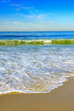 Water over zand Royalty-vrije Stock Afbeeldingen