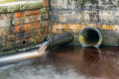 Water Overflow Pipe Royalty Free Stock Photo
