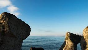 Water overzees lijnlandschap stock fotografie