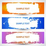 Water paint banner Royalty Free Stock Images