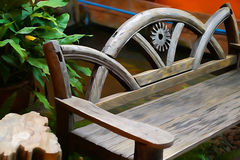 Water Paint Bench. Classic wood bench with water color Royalty Free Stock Images