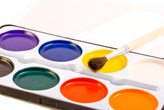 Water Paints Set Royalty Free Stock Images