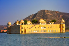 Water palace, Jaipur, India. Water Palace (Jal Mahal) in Man Sagar Lake. Jaipur, Rajasthan, India. 18th Century Royalty Free Stock Photo