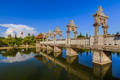 Water Palace Taman Ujung in Bali Island Indonesia Royalty Free Stock Images