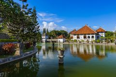 Water Palace Taman Ujung in Bali Island Indonesia Royalty Free Stock Photos