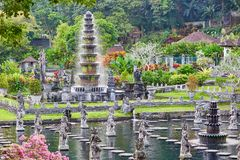 Water Palace of Tirta Gangga in East Bali Stock Photos