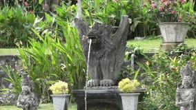 Water Palace of Tirta Gangga. Landmark in Bali Karangasem, Indonesia.  stock video footage