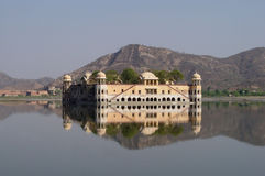 Water Palas. Palace in Jaipur, in the center of lake Stock Photos