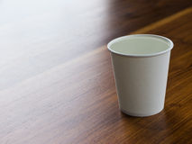 Water in paper cup Stock Photos