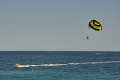 Water parachute in Summer Stock Photography
