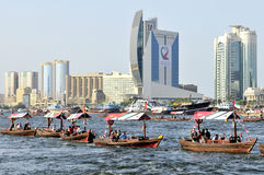 Water Parade during UAE 38th National Day Stock Image
