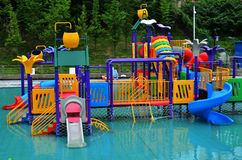 Water park. In summer day Stock Photo