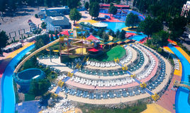 Water park-aerial view Stock Image