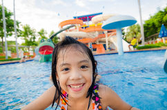 Water Park. Children has fun in water park Royalty Free Stock Images