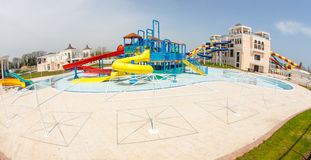 Water park at the entrance to Pomorie in Bulgaria Stock Photo