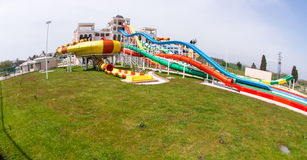 Water park at the entrance to Pomorie in Bulgaria Stock Photography