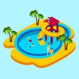 Water Park Illustration Stock Photo
