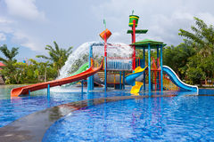 Water park for kid. At the day time Stock Photos