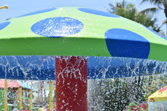 Water park mushroom. A water park mushroom shaped object where the water drips to get the kids wet Stock Image