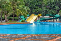 Water park outdoor swimming pool Stock Photo