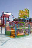 Water Park Play Ground. A colorful water park play set ready for hours of fun for kids to get wet and splash Stock Photography