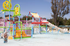 Water Park Play Set. Splash and play at the summer time water park. This play set is set in a warm sunny environment, which makes for an ideal situation for kids Royalty Free Stock Photography