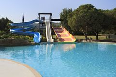 Water park at Porto Carras Sithonia. Stock Photography