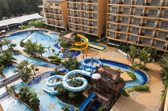 Water Park Resort. Water Park in Luxury Resort royalty free stock photo