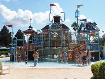 Water park. Reunion, FL - September 25:   tourists spending a hot day cooling down at a water park in Florida Royalty Free Stock Images