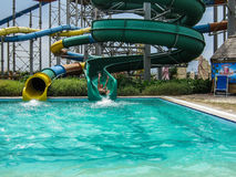 Water Park in the Russian city of Anapa, Krasnodar region. Royalty Free Stock Photography