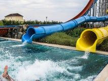 Water Park in the Russian city of Anapa, Krasnodar region. Stock Photo