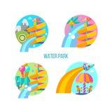 Water park. Hello summer. Vector illustration. royalty free illustration