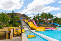 Water park slides Stock Image
