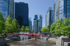 Water park on the waterfront in Vancouver, British Columbia Royalty Free Stock Photo