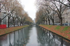 Water path with tress aside Stock Images