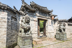 Water pavilion ancestral temple(Shuiting ancestral temple) gate stock photo