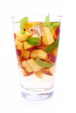 Water with peach Royalty Free Stock Photos