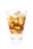 Water with peach Royalty Free Stock Photo