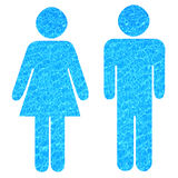 Water people. Man and woman pictogram filled with soothing water texture (purity concept Stock Photo