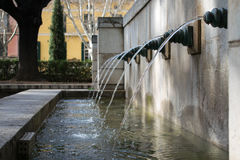 Water. This photo was taken in a beautiful park in Spain Royalty Free Stock Photography