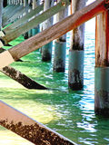Water at the Pier. The water that flows below the pier at Hervey Bay, Queensland, Australia Royalty Free Stock Image