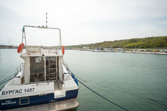 The water pier Sarafovo in Bourgas, Bulgaria Royalty Free Stock Photos