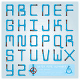 Water Pipe Alphabet Font Character Royalty Free Stock Photos
