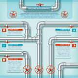 Water Pipe Business Infographic Stock Photo