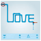 Water Pipe Business Infographic For Valentine Day Royalty Free Stock Photography
